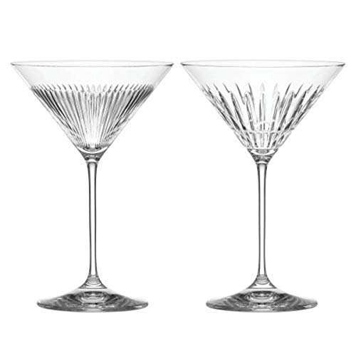 REED AND BARTON New Vintage 2pc Martini Set, 1.15 LB, Clear