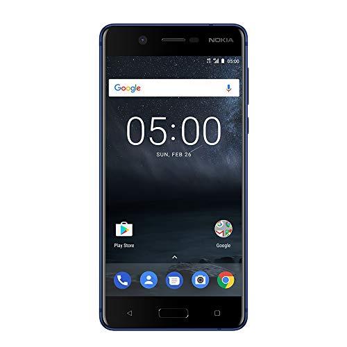Nokia 5 - Android 9.0 Pie - 16 GB - Dual SIM Unlocked Smartphone (AT&T/T-Mobile/MetroPCS/Cricket/Mint) - 5.2' Screen - Blue (TA-1044-SIL)