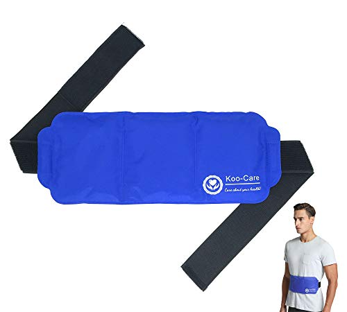 Koo-Care Large Ice Pack Gel Hot Cold Therapy Pack - Wraps Around Shoulder, Waist & Lower Back, Belly, Thigh, Knee, Shin, Ankle - Great for Injury, Sprain, Bruise - 15' x 5.9'