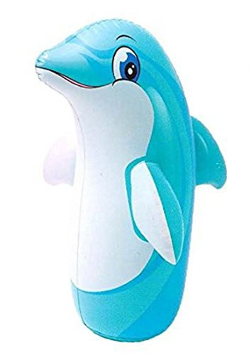 Intex 3D Bop Bag Inflatable Blow Up Punching Bags Toys (Dolphin)