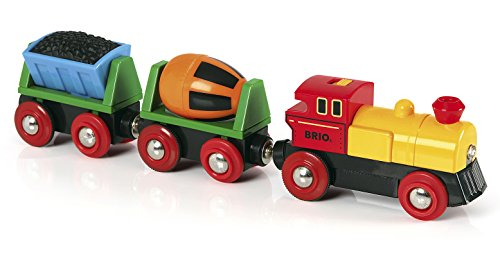 BRIO World - 33319 Battery Operated Action Train   3 Piece Toy Train for Kids Ages 3 and Up