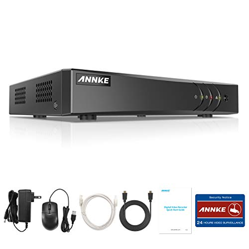 ANNKE 8-Channel 5MP Lite Hybrid 5-in-1 H.265+ Security Video DVR Recorder , Supports 8CH Analog and 2CH IP Cameras for Home Security Camera System(No hard Drive)