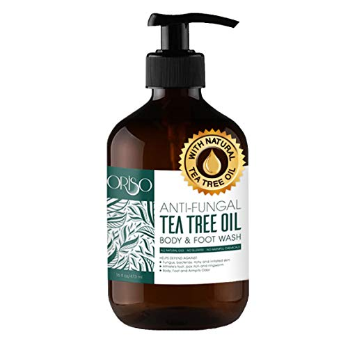 Tea Tree Oil Body Wash - Antifungal - Antibacterial Soap-Helps Athletes Foot - Toenail Fungus - Ringworm - Jock Itchy - Acne - Eczema - Yeast Infection - Body Odor - Itchy Skin - Sulfate Free - 16oz