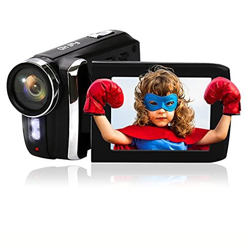 Video Camera for Kids Vmotal Digital Camera Recorder Full HD 1080P 20FPS 2.8 Inch 270 Degree Flip Screen Vlogging Camera 8X Digital Zoom Mini Camcorder for Teens Beginners