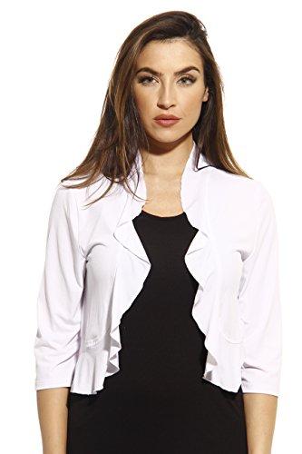 Just Love 401572-WHT-3X Plus Size Shrug/Women Cardigan White