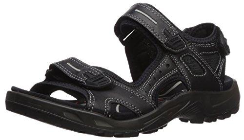 ECCO Men's Yucatan Outdoor Sandal Athletic, Black Lux Leather, 44 EU (US Men's 10-10.5 M)
