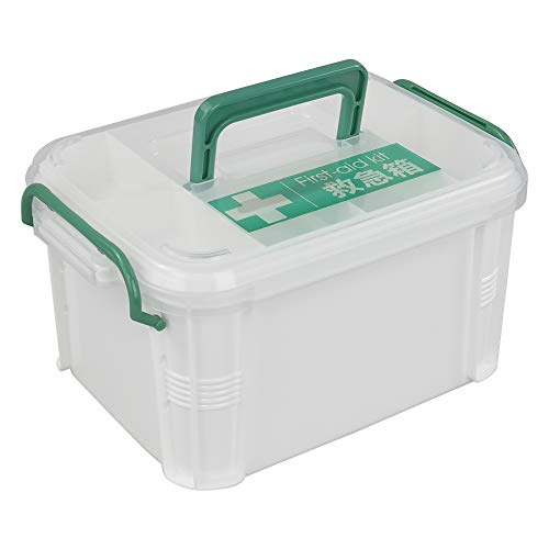 AnnkkyUS Small First Aid Kit Pack of 1, Organizer Storage Box With Lock