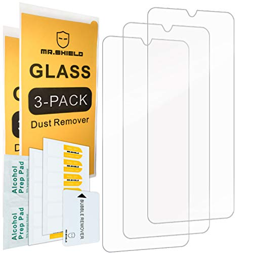 [3-PACK]-Mr.Shield Designed For SamsungGalaxyA20 [Not Fit for SamsungGalaxyS20] [Tempered Glass] Screen Protector [Japan Glass With 9H Hardness] with Lifetime Replacement