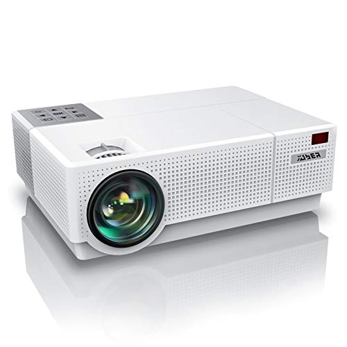 YABER Y31 Native 1920x 1080P Projector 8500L Upgrade Full HD Video Projector, ±50° 4D Keystone Correction Support 4K, LCD LED Home Theater Projector Compatible with Phone,PC,TV Box,PS4 (White)