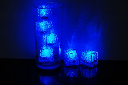 Litecubes Brand 3 Mode Blue Light up LED Ice Cubes (6)