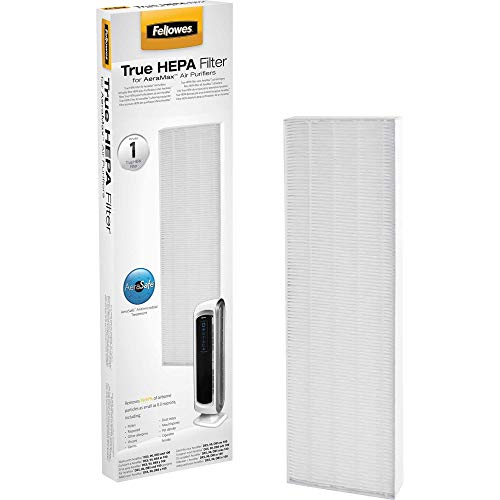 Fellowes AeraMax 90/100/DX5 Purifiers True HEPA Air Filter, 16.5' x 4.6' x 1.3', White