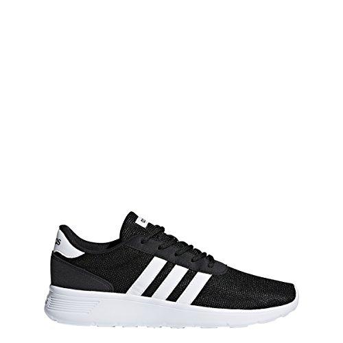 adidas Women's Lite Racer Sneaker, Black/White/White, 7 M US
