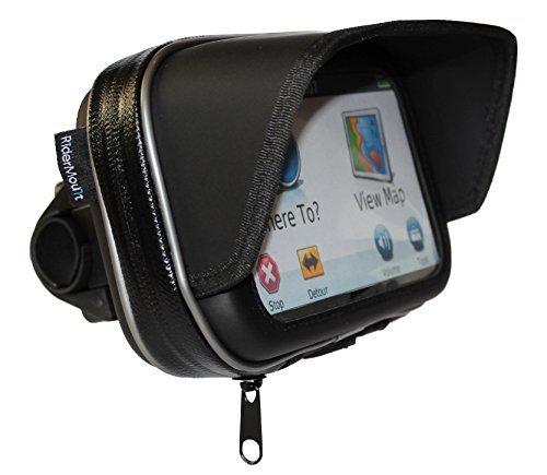RiderMount Sunshade GPS Case with handlebar mount (5')
