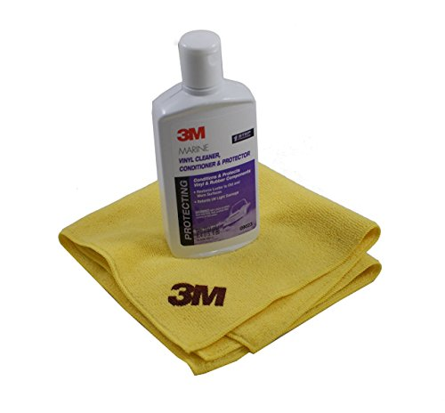 3M Marine Vinyl Cleaner (8oz) and Perfect-It Detailing Cloth