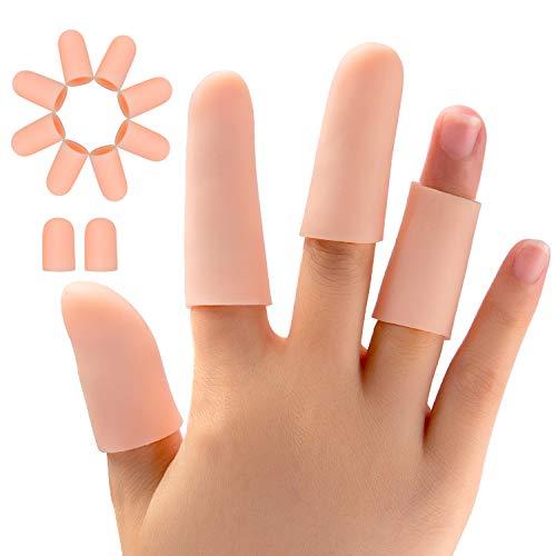 Promifun Finger Protectors, Silicone Finger Sleeves, 20 Packs of Finger Tubes for Men and Women, Trigger Finger, Finger Cracking, Finger Arthritis