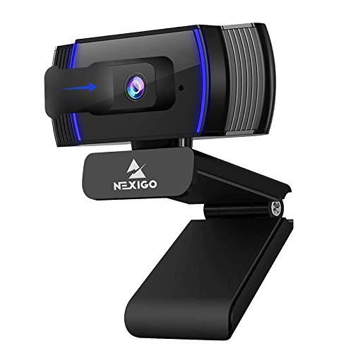 NexiGo AutoFocus 1080p Webcam with Stereo Microphone, Software Control and Privacy Cover, N930AF FHD USB Web Camera, Compatible with Zoom/Skype/Teams/Webex, PC Mac Desktop