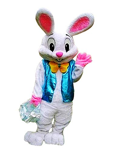 Easter Bunny Mascot Costume Rabbit Cartoon Fancy Party Dress Performance Suit Adult, As Picture, One Size