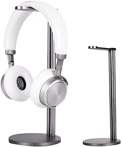 EletecPro Headphone Stand Holder,Universal Aluminum Alloy Gaming Headset Earphone Holder Table Desk Display Rack Hanger Orgnizer Support for All Headphone Sizes (Grey)
