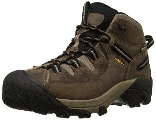 KEEN Men's Targhee II Mid Waterproof Hiking Boot,Shitake/Brindle,12 M US