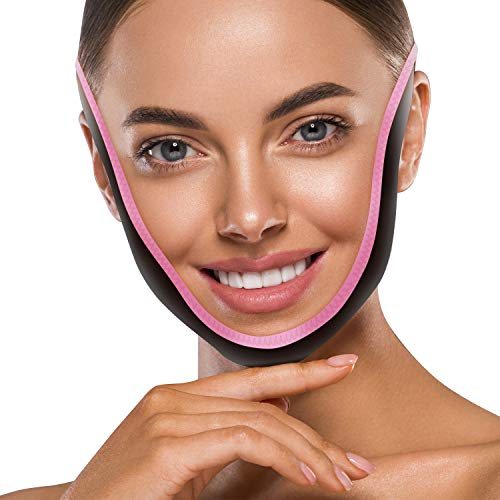V Line Mask Bandage Reusable Double Chin Reducer Patch Face Slimming Neck Lift Strap Facial Lift Jaw Exerciser Tape Anti-Aging Contour Tightening Firming Wrinkles Moisturizing Band for Women