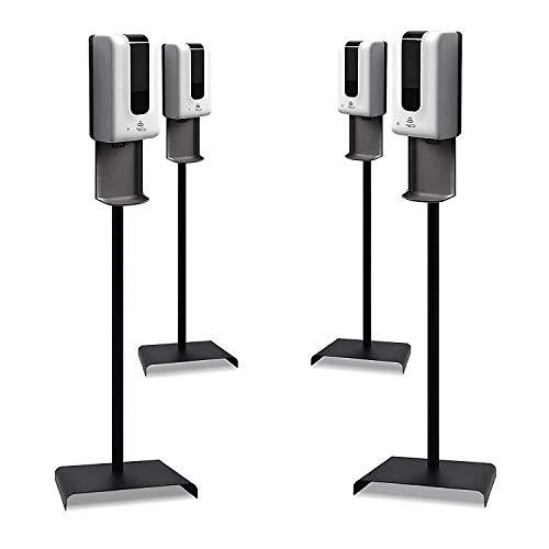 Argento Brand 4 Sets Automatic Hand Sanitizer Dispenser/Soap Dispenser Gel - Liquid - Sanitizing Station - Ships same day from USA- Steel Floor Stand, Drip Catcher