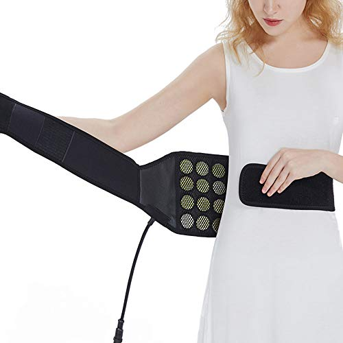 UTK Jade Back Far Infrared Heating Pad for Back Pain, Infrared Heating Wraps for Cramps - Far Infrared Therapy Back Brace for Thigh, Lumbar, Stomach Pain, EMF Free, Auto Off, Smart Controller