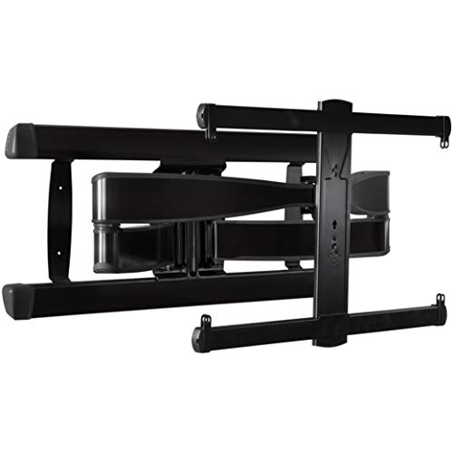 Sanus Premium Full Motion TV Wall Mount for TVs Up to 90' - Brushed Black Finish with FluidMotion Design for Smooth Extension, Tilt,