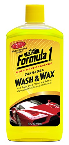 Formula 1 Carnauba Car Wash and Wax - Removes Dirt and Grime, Protects and Shines - 16 oz.