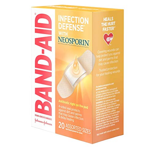 BAND-AID with Neosporin Bandages Assorted Sizes 20 Each (Packs of 5)