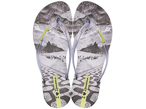Ipanema Sandals Wave Natural, Grey/Clear, Size 8