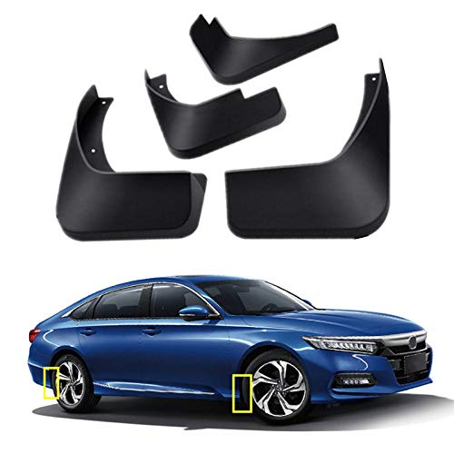Mud Flaps Kit for 2018 2019 2020 Honda Accord 10th Mud Splash Guard Front and Rear 4-PC Set by TOPGRIL
