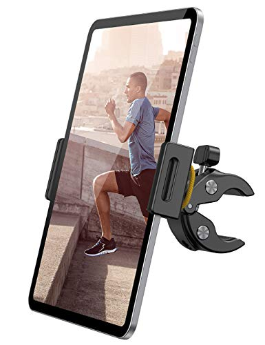 Lamicall Spinning Bike Tablet Holder Mount - Gym Treadmill Tablet Stand, Indoor Stationary Exercise Bicycle Tablet Clamp for iPad Pro 11 / Air / Mini, Galaxy Tabs, More 4.7-12.9' Tablet and Cellphone