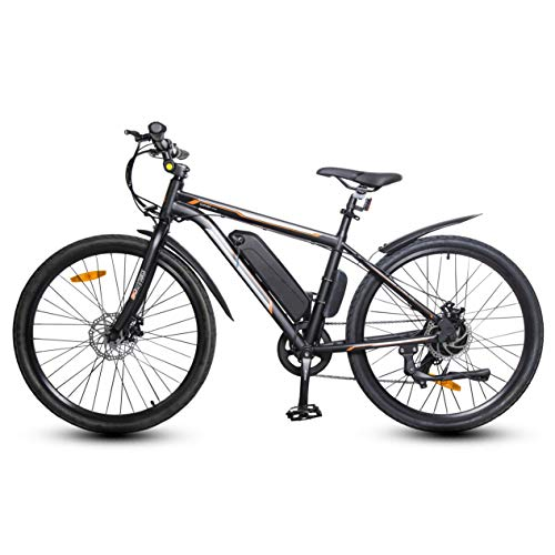 ECOTRIC UL Certified 26' Electric Bicycle 350W Brushless Motor 36V/10AH City Ebike Removable Lithium Battery Bike Assist Disc Brake 7 Speed System (Black)