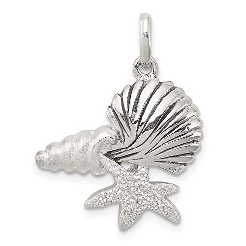 925 Sterling Silver/Sea Shell Mermaid Nautical Jewelrys Pendant Charm Necklace Shore Fine Jewelry For Women Gifts For Her