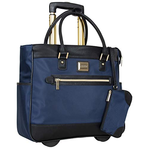 Kenneth Cole Reaction Runway Call Nylon-Twill Laptop & Tablet Business Travel, Dark Slate Wheeled Tote, One Size
