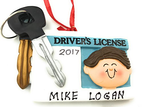 New Driver License Male Brown Christmas Ornament 2020