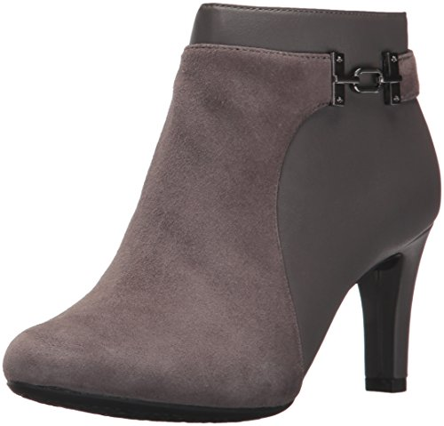 Bandolino Womens Lappo Leather Closed Toe Ankle Fashion Boots, Grey, Size 5.5