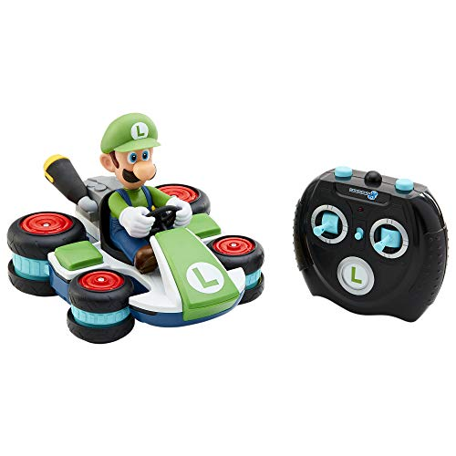Nintendo Mario Kart 8 Luigi Mini Anti-Gravity Rc Racer 2.4Ghz, with Full Function Steering Create 360 Spins, Whiles & Drift!Up to 100'. Range - for Kids Ages 4+