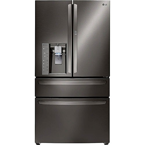 LG LMXS30776D 36' Black Diamond Series 30 Cu. Ft. French Door Refrigerator with CustomChill Drawer, Slim SpacePlus Ice System, Premium LED Lights, Multi-Air Flow in Black Stainless Steel
