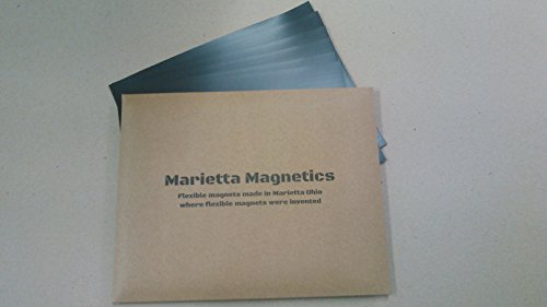 Marietta Magnetics - 10 Magnetic Sheets of 8.5' x 11' Adhesive (30 mil) Create your own Magnet! Flexible Peel & Stick Self Adhesive for Photos Crafts Stamp Dies Signs & More
