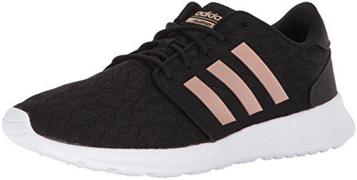 adidas Women's Cloudfoam QT Racer Xpressive-Contemporary Cloadfoam Running Sneakers Shoes, Core Black, Copper Met, Ftwr White, 8.5 M US