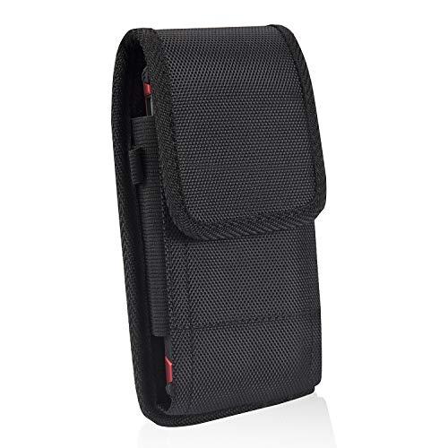 KIWITATA iPhone 11 Pro Max Holster, iPhone 8 Plus Belt Clip Case,Vertical/Horizontal Rugged Nylon Belt Pouch Case for iPhone 7 Plus iPhone Xs MAX 6S Plus Galaxy S10/S8 Plus
