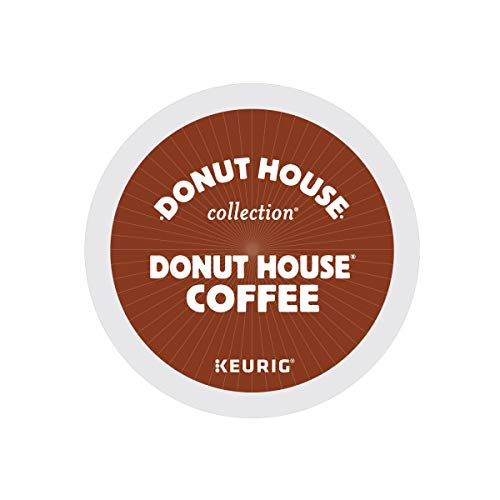 Donut House Collection, Donut House Coffee, Single-Serve Keurig K-Cup Pods, Light Roast, 48 Count (2 Boxes of 24 Pods)