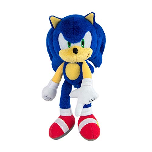 Sonic Modern High Detailed and Embroidered Collectible Plush Toy for Kids, Blue, 8 Inch