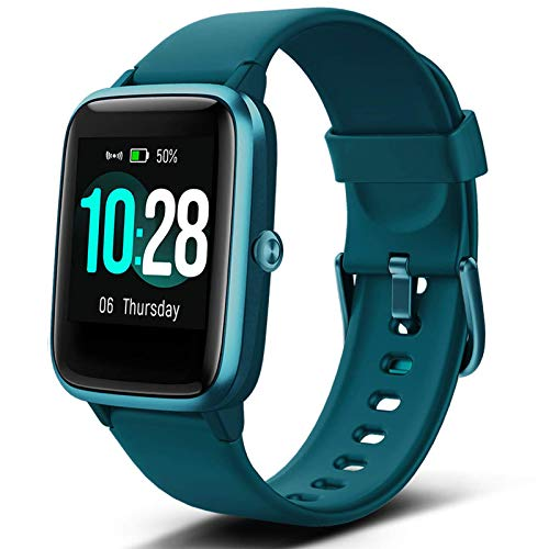 Lintelek Smart Watch with 1.3' LCD Full Touch Screen, Large Screen Fitness Tracker with Heart Rate Monitor, Pedometer, Sleep Tracker, Waterproof Activity Tracker for Men, Women and Gift (Green)