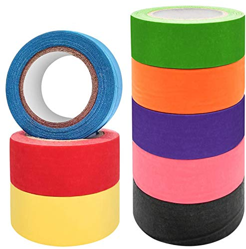 Colored Masking Tapes,Rainbow Painters Tape Colorful Labeling Tape for Kids Fun Crafts Home Multi Color Arts Decoration Office Labeling Paper Or Coding Supplies,8 Rolls1 Inch x 13.1Yards
