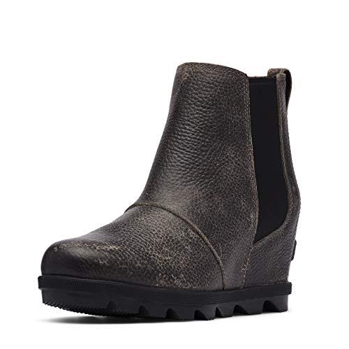 Sorel Women's Joan of Arctic Wedge II Chelsea Boot - Light Rain - Waterproof - Quarry - Size 8