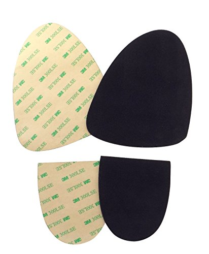 Stick-on suede soles with industrial-strength adhesive backing. Resole old dance shoes or turn sneakers into perfect dance shoes. [SUEDE-M-black-sport-r2]