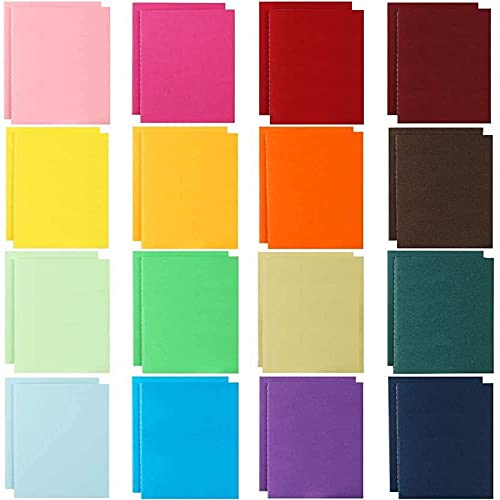JPSOR 32pcs Small Blank Notebooks, Memo Notepad, Soft Cover, 48 Pages, 4'x5.7', 16 Assorted Colors, for Kids, Traveler, Students, Office, School Supplies