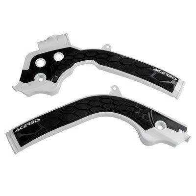 Acerbis X-Grip Frame Guards White/Black for Husqvarna FC 250 2016-2018